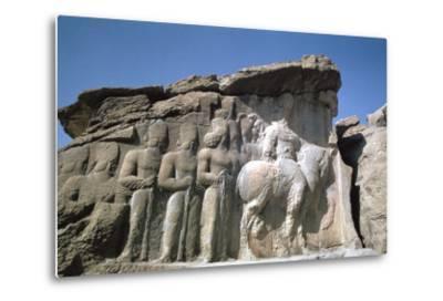 Relief of Shapur I, Naqsh-I-Rustam, Iran-Vivienne Sharp-Metal Print