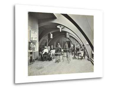 Art Class, Westminster Technical Institute, London, 1910--Metal Print