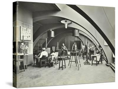 Art Class, Westminster Technical Institute, London, 1910--Stretched Canvas Print
