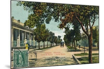 Banos Street, Havana, Cuba, C1910--Mounted Giclee Print