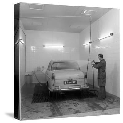 A 1961 Austin Westminster in a Car Wash, Grimsby, 1965-Michael Walters-Stretched Canvas Print