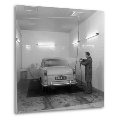 A 1961 Austin Westminster in a Car Wash, Grimsby, 1965-Michael Walters-Metal Print