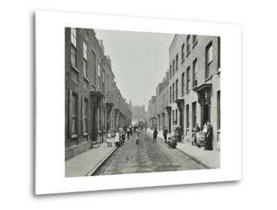 People in the Street, Albury Street, Deptford, London, 1911--Metal Print