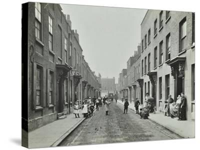 People in the Street, Albury Street, Deptford, London, 1911--Stretched Canvas Print
