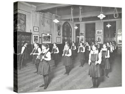 Students in the Gymnasium, Ackmar Road Evening Institute for Women, London, 1914--Stretched Canvas Print