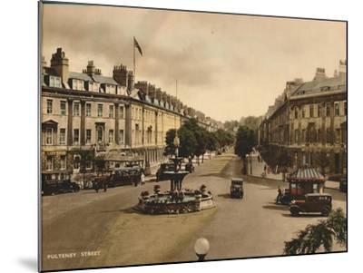 Pulteney Street, Bath, Somerset, C1925--Mounted Giclee Print