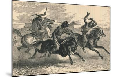 An Indian Horse Race, C19th Century--Mounted Giclee Print