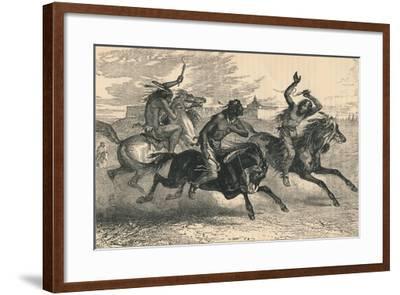 An Indian Horse Race, C19th Century--Framed Giclee Print