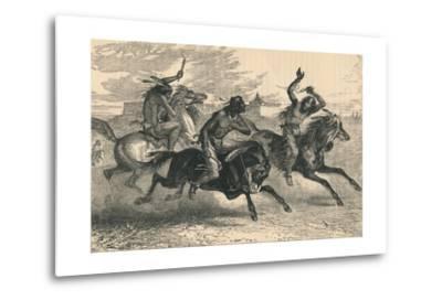 An Indian Horse Race, C19th Century--Metal Print
