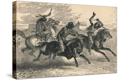 An Indian Horse Race, C19th Century--Stretched Canvas Print
