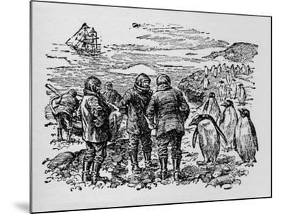 Landed on a Small Island Inhabited by Myriads of Penguins, C1918--Mounted Giclee Print