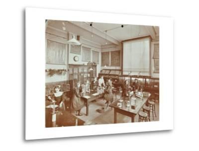 Science Class, Aristotle Road Girls School, Clapham, London, 1908--Metal Print