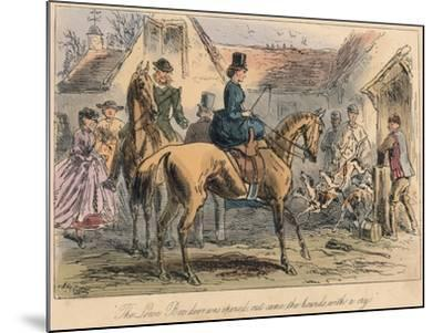 The Love Box Door Was Opened, Out Came the Hounds with a Cry, 1865-Robert Smith Surtees-Mounted Giclee Print