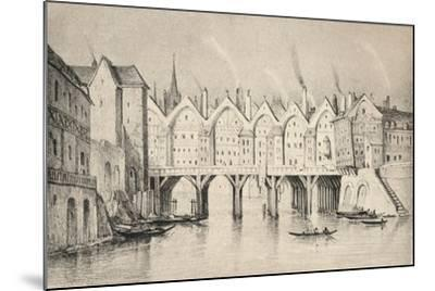 The Pont St Michel in 1550, 1915--Mounted Giclee Print