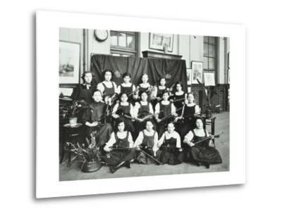 Girls Swimming Championship Team with their Shield, Tollington Park Central School, London, 1915--Metal Print