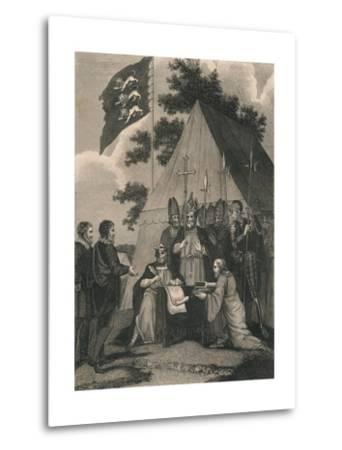 Magna Charter Signed by King John, 1215--Metal Print