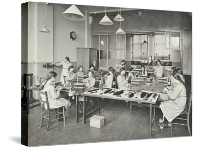 Hair Dressing Class, Barrett Street Trade School for Girls, London, 1915--Stretched Canvas Print