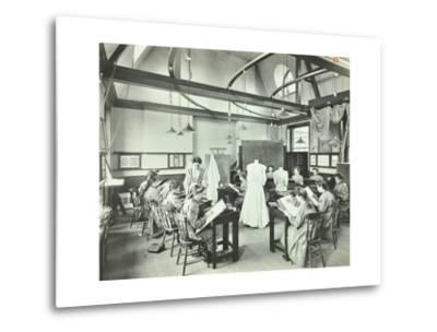 Ready Made Clothing Class, Shoreditch Technical Institute, London, 1907--Metal Print