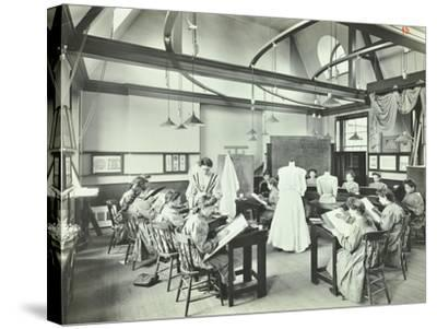 Ready Made Clothing Class, Shoreditch Technical Institute, London, 1907--Stretched Canvas Print