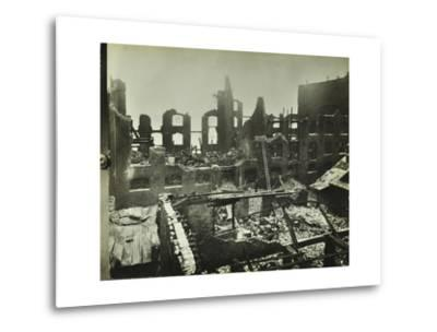 Burnt-Out Building, Concordia Wharf, Poplar, London, 1924--Metal Print