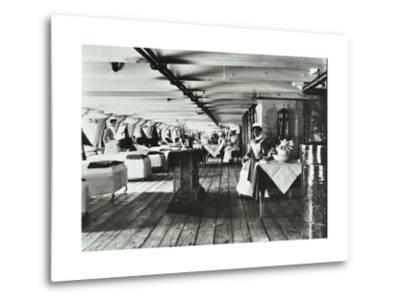 A Copy of a Photograph of the Ward Deck of the Atlas Smallpox Hospital Ship, C1890-C1899--Metal Print