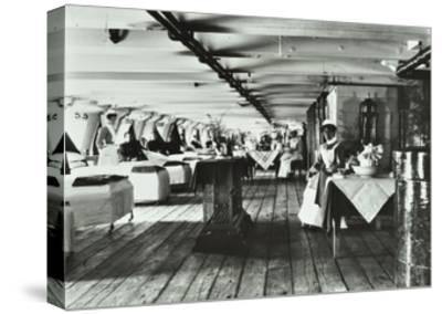 A Copy of a Photograph of the Ward Deck of the Atlas Smallpox Hospital Ship, C1890-C1899--Stretched Canvas Print