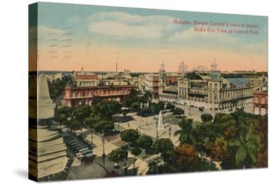 Birds-Eye View of Central Park, Havana, Cuba, C1919--Stretched Canvas Print