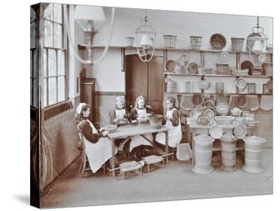Basketry Workshop at Elm Lodge Residential School for Elder Blind Girls, London, 1908--Stretched Canvas Print