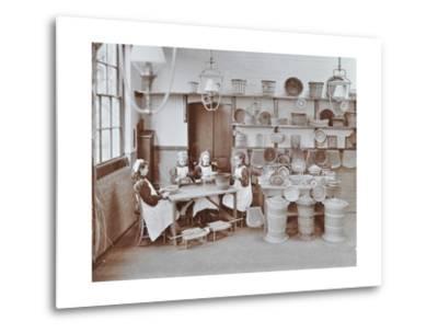 Basketry Workshop at Elm Lodge Residential School for Elder Blind Girls, London, 1908--Metal Print