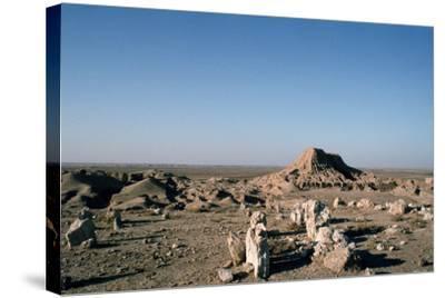 Ziggurat, Ashur, Iraq, 1977-Vivienne Sharp-Stretched Canvas Print