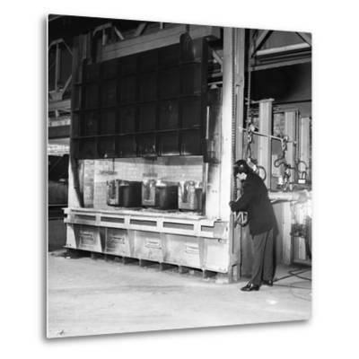 The Small Ingot Furnace, Park Gate Iron and Steel Co, Rotherham, South Yorkshire, 1964-Michael Walters-Metal Print