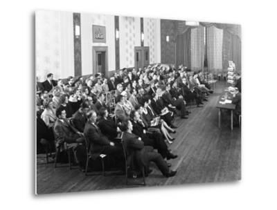 Danish Bacon Sales Team Meeting, Earl of Doncaster Hotel, 1964-Michael Walters-Metal Print