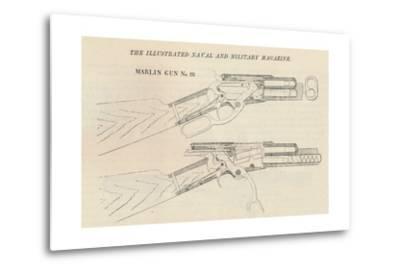 Marlin Gun No. 28, 1884--Metal Print