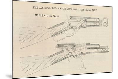 Marlin Gun No. 28, 1884--Mounted Giclee Print
