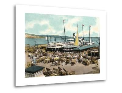 Muelle De Luz Harbour with Ferries, Havana, Cuba, 1904--Metal Print