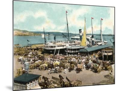 Muelle De Luz Harbour with Ferries, Havana, Cuba, 1904--Mounted Giclee Print
