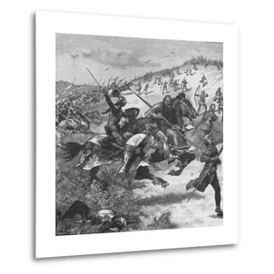 Charge of the Scots at the Battle of Homildon Hill, Northumberland, 1402--Metal Print