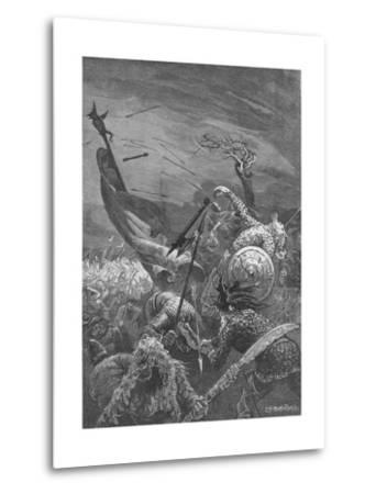 Death of King Harold at the Battle of Hastings, 1066--Metal Print
