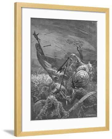Death of King Harold at the Battle of Hastings, 1066--Framed Giclee Print