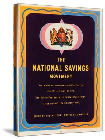 The National Savings Movement, 1951--Stretched Canvas Print