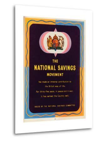 The National Savings Movement, 1951--Metal Print