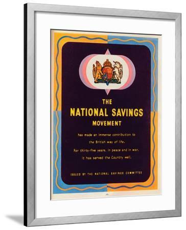 The National Savings Movement, 1951--Framed Giclee Print