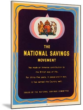 The National Savings Movement, 1951--Mounted Giclee Print