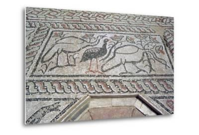 Mosaic, Ruins of the Roman Town of Stobi, Gradsko, Macedonia-Vivienne Sharp-Metal Print