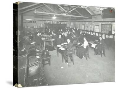 Typewriting Examination Class, Queens Road Evening Institute, London, 1908--Stretched Canvas Print