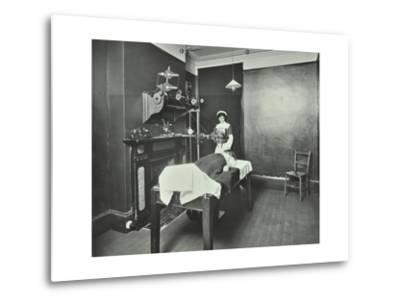 X-Ray Room, Fulham School Treatment Centre, London, 1914--Metal Print