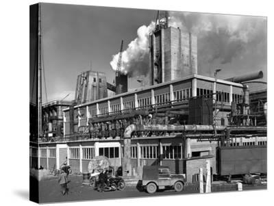 Manvers Coal Processing Plant, Wath Upon Dearne, Near Rotherham, South Yorkshire, January 1957-Michael Walters-Stretched Canvas Print