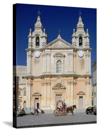 St Pauls Cathedral, Mdina, Malta-Peter Thompson-Stretched Canvas Print