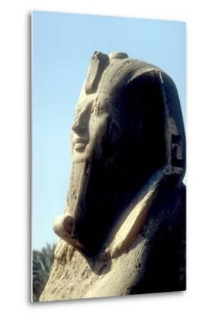 Head of Alabaster Sphinx, Memphis, Egypt, 18th or 19th Dynasty, C14th - 13th Century Bc-CM Dixon-Metal Print