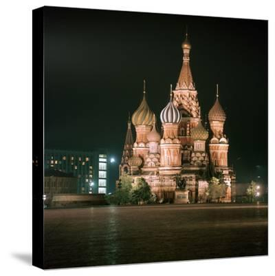 St Basils Cathedral at Night-CM Dixon-Stretched Canvas Print